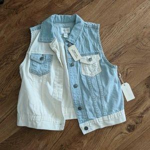 Blue & White Vest